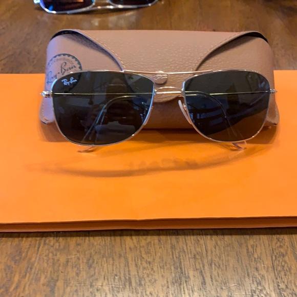 Ray Ban square frame aviator sunglasses